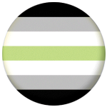 Agender Flag 25mm Button Badge